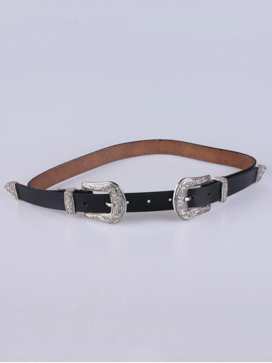 Duplo Pin Buckle Belt - Preto