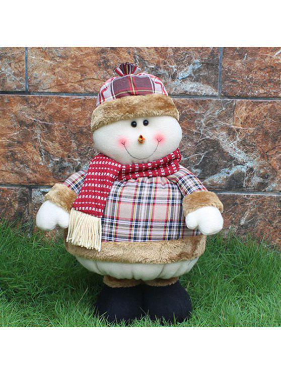new Christmas Party Prop Stretched Snowman Puppet Toy - COLORMIX