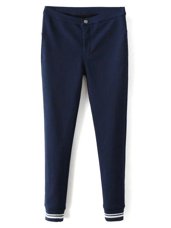 sale Fleece Lined Slim Pants - DEEP BLUE M