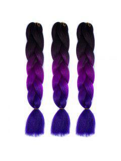 1 Pcs Multicolor Ombre Long High Temperature Fiber Braided Hair Extensions