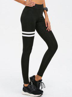 Skinny High Waist Gym Leggings - Black L