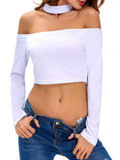 T-shirt Manches Longues Choker - Blanc S