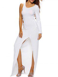 Haut Slit Cut Out Bodycon Maxi Dress - Blanc S