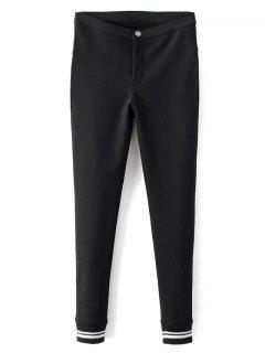 Pantalons Droits Et Moulants En Laine Polaire  - Noir L