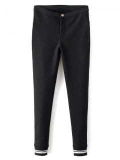 Fleece Lined Slim Pants - Black S