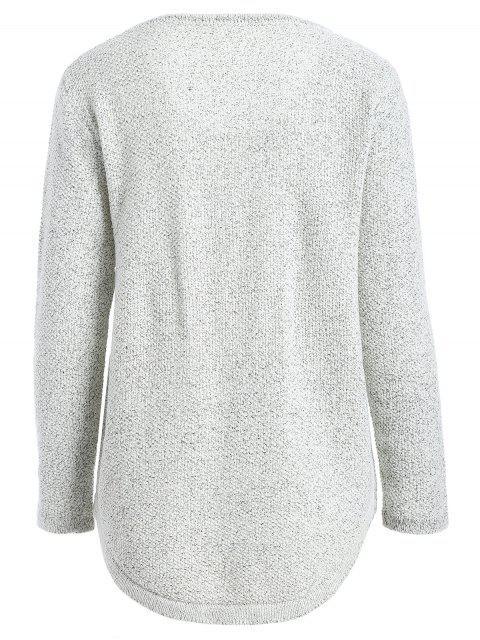 women's Cherry Panttern Sweatshirt - GRAY ONE SIZE Mobile