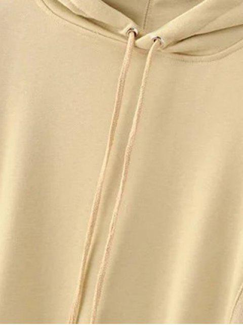 shops Front Pocket Floral Embroidered Hoodie - PALOMINO S Mobile