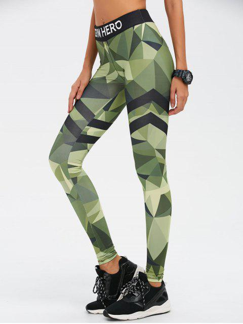 shops Stretchy Camo Print Gym Leggings - CAMOUFLAGE COLOR M Mobile