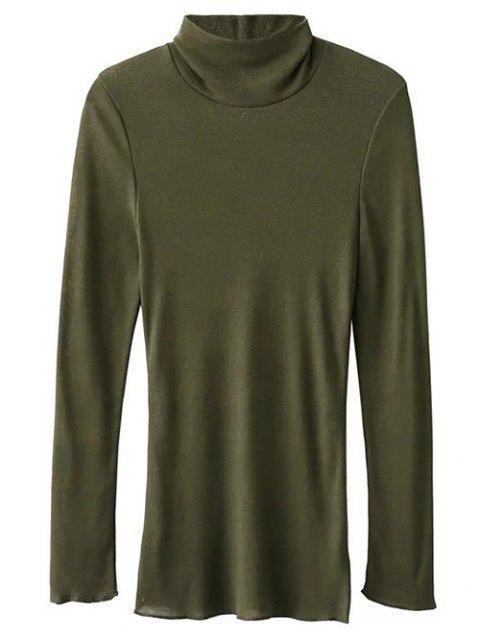 T-shirt avec col montant à manches longues - Vert Armée S Mobile
