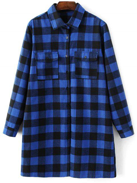 sale Long Sleeve Checked Boyfriend Shirt -   Mobile