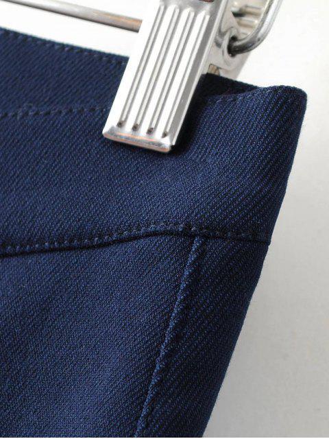 fancy Fleece Lined Slim Pants - BLACK S Mobile