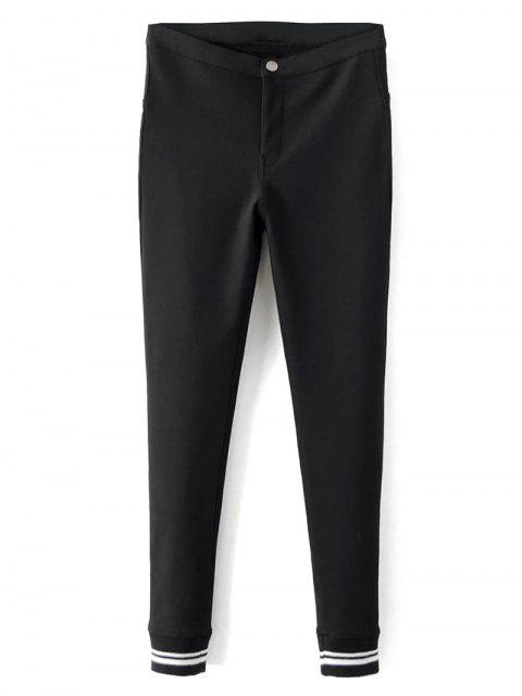 fashion Fleece Lined Slim Pants - BLACK L Mobile