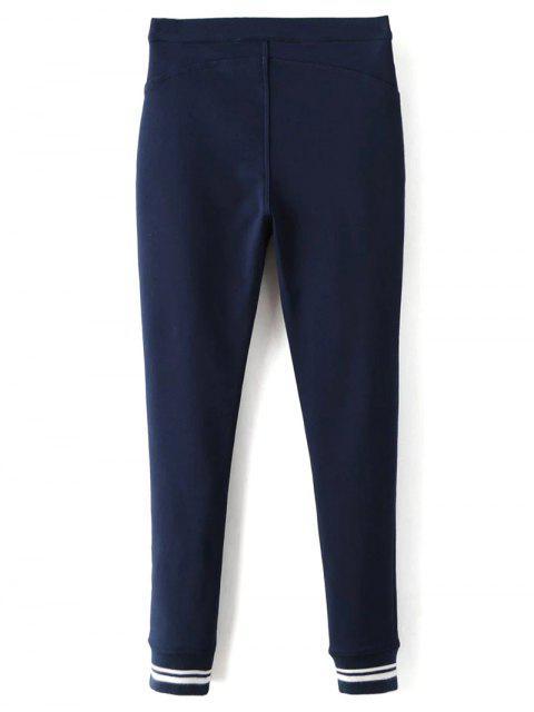 unique Fleece Lined Slim Pants - DEEP BLUE L Mobile