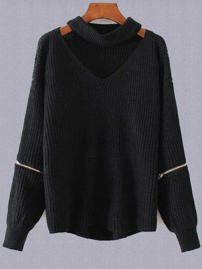 Plus Size Choker Sweater...