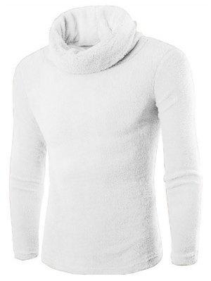 Rollkragen Langarm Fleece Pullover