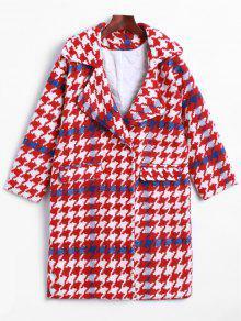 طية صدر السترة هوندتوث و الصوف معطف - أحمر M