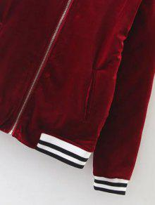 a88bd697edd 62% OFF  2019 Quilted Velvet Bomber Jacket In BURGUNDY