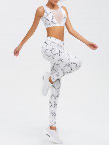 Manga De Cintura Alta Spliced Skinny Sport Suit - Blanco M