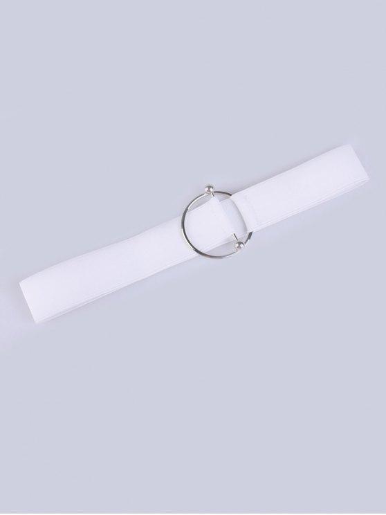 Da cintura para Decoração Círculo Buckle Elastic Cinto largo - Branco