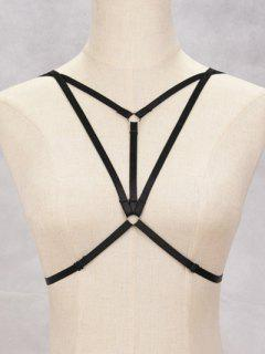 Bra Strappy Bondage Harness Body Jewelry - Black