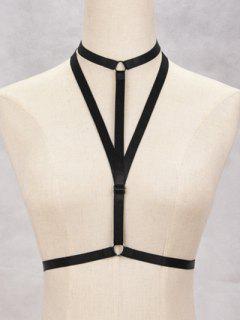 Bijoux De Corps: Sangle Triangulaire De Bondage En Harnais De Soutien-gorge - Noir