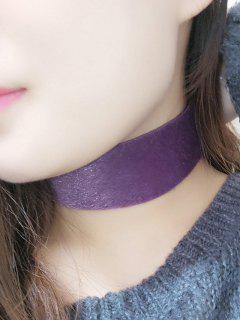 Faux Leather Velvet Choker - Purple