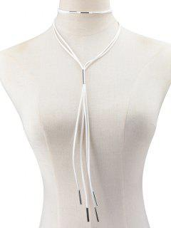 Artificial Leather Rope Necklace - White