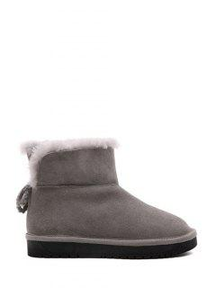 Splicing Flat Heel Tip Up Snow Boots - Gray 38