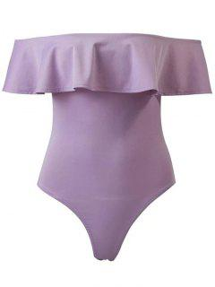 Ruffles Off The Shoulder Bodysuit - Purple S