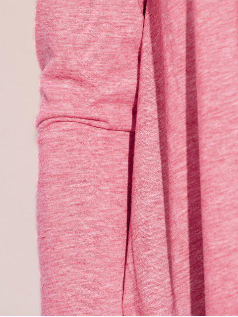 affordable Baggy Asymmetric T-Shirt - PINK XL Mobile