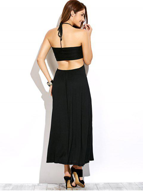 new Twist Halter Cut Out Maxi Dress - BLACK L Mobile