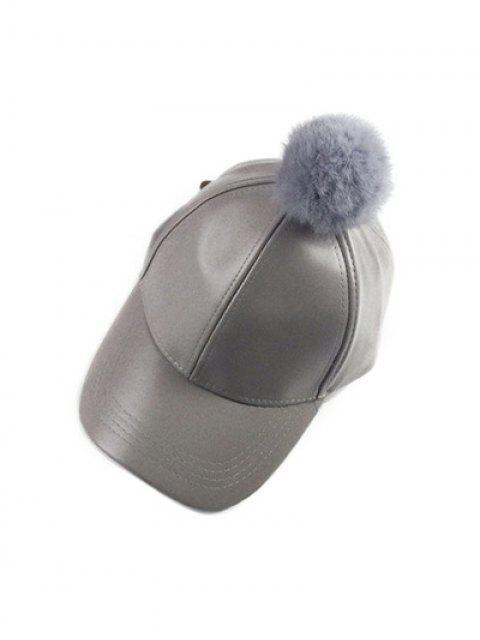 Pompón de Hip Hop de cuero de imitación del sombrero de béisbol - Gris  Mobile