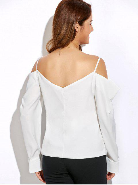 Haut à épaules dégagées et manches longues - Blanc XL Mobile