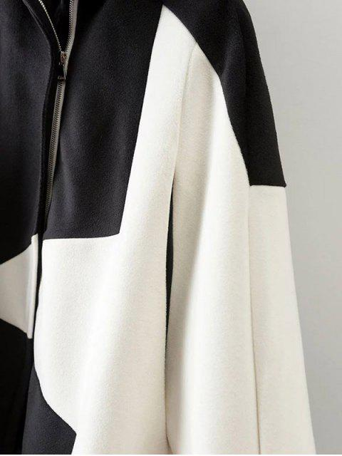 sale Cashmere Pentagram Print Cape Coat - WHITE L Mobile