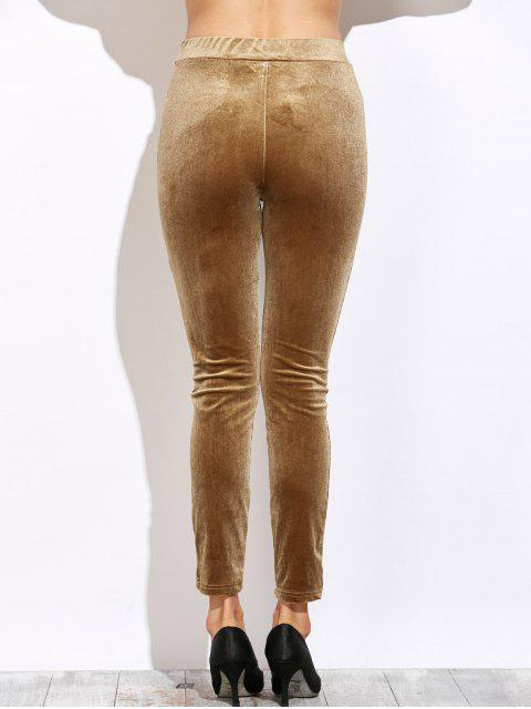 latest Slimming Leggings - LIGHT COFFEE S Mobile
