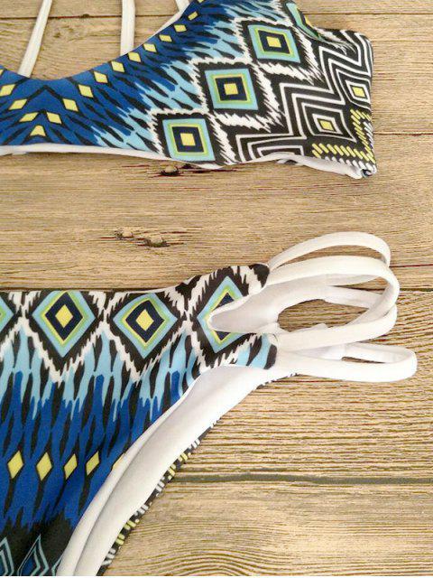 sale Printed Strappy Back Bikini - MULTICOLOR M Mobile