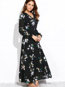 Flowy Long Sleeve Maxi Dress