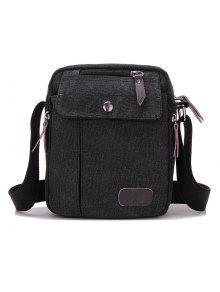 حقيبة طويلة التمر بالجسم مريح متعدد السحاب - أسود