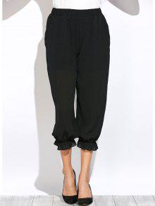 Ver A Través De Los Pantalones De La Linterna - Negro M