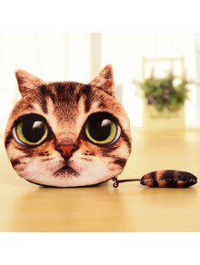 القط عملة محفظة - البني الفاتح