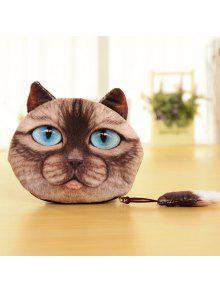 القط عملة محفظة - القهوة الخفيفة