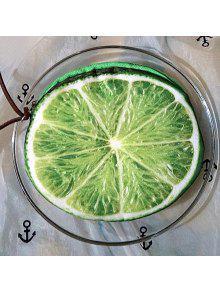 3d الفاكهة طباعة جولة شكل عملة محفظة - الليمون الأخضر