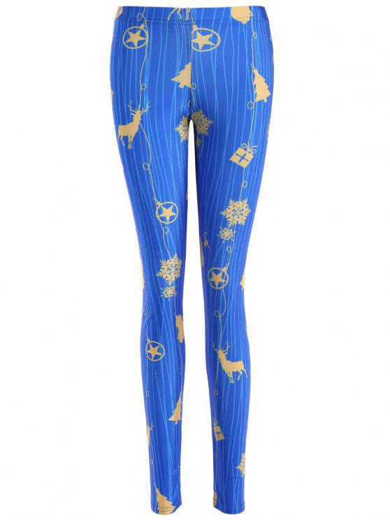 shops Skinny Christmas Reindeer Leggings - BLUE M