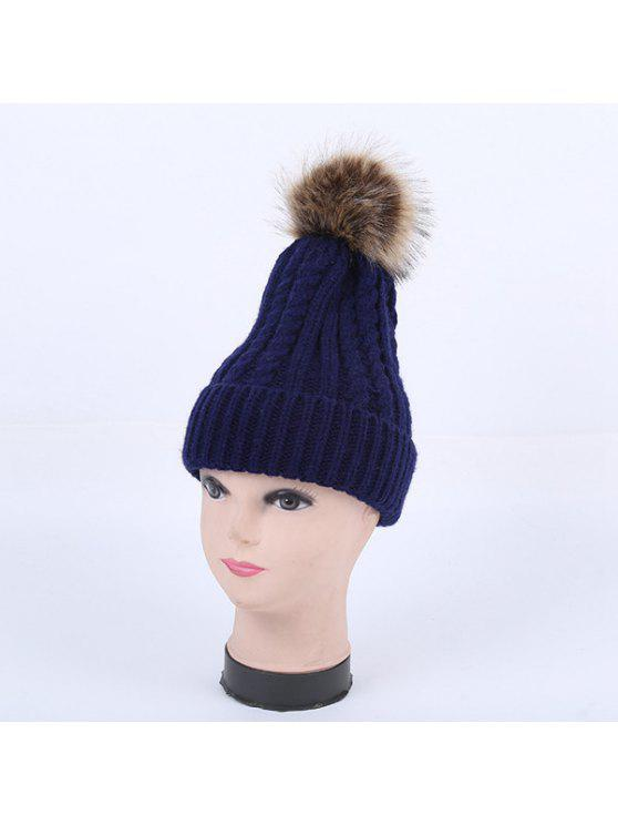 Winter-Zopfmuster Pom Hut - Cadetblue