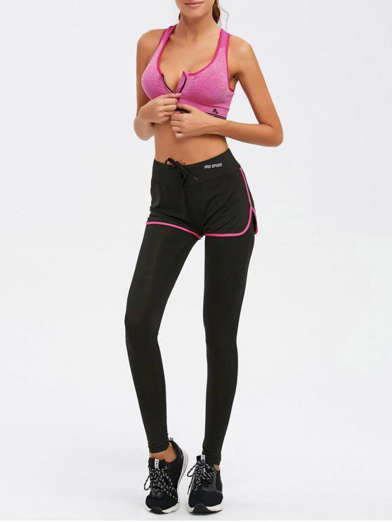 affordable Zipper Bra and Bodycon Yoga Leggings - TUTTI FRUTTI L