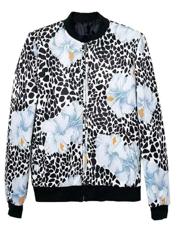 Floral modelado chaqueta de bombardero - Colormix S