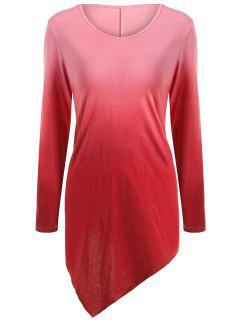 Pañuelo De Cuello V Ombre De La Camiseta - Rojo Xl