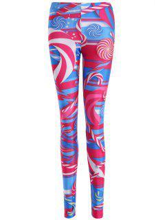 Skinny Lollipop Pattern Leggings - M
