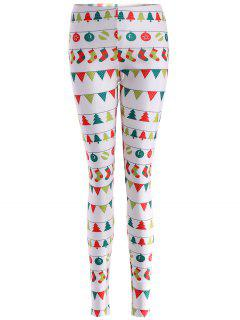 Christmas Holiday Skinny Leggings - White Xl