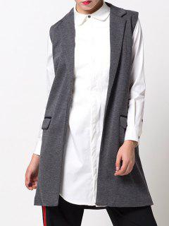 One-Button Waistcoat - Gray M